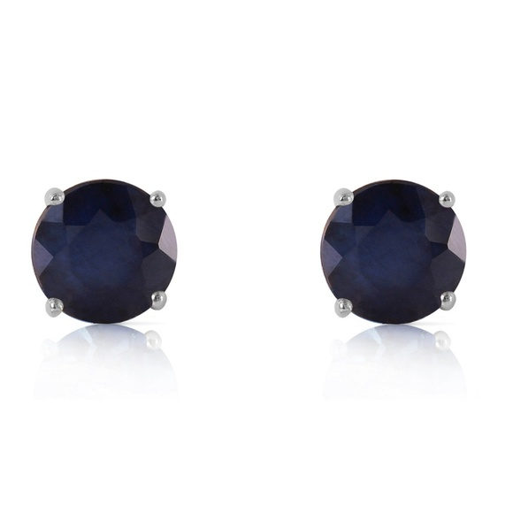 Galaxy Gold Products Jewelry - SOLID GOLD STUD EARRING WITH NATURAL SAPPHIRES